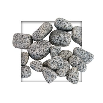 Gletscherkies Royal Granit Grau