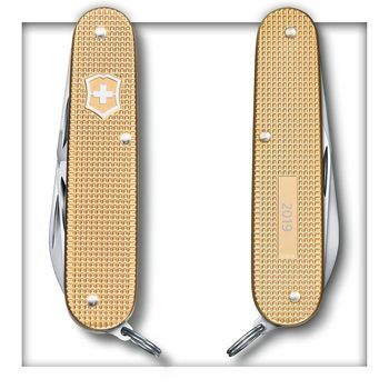 Victorinox Cadet, 84 mm, Alox Limited Edition 2019, Champagner-Gold