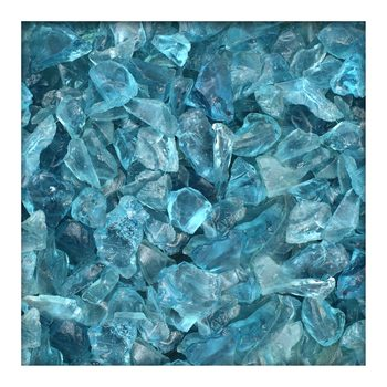 Glassplitt Glasbruch Glassteine Glasbrocken Glas Gabione 20-40 mm Light Blue